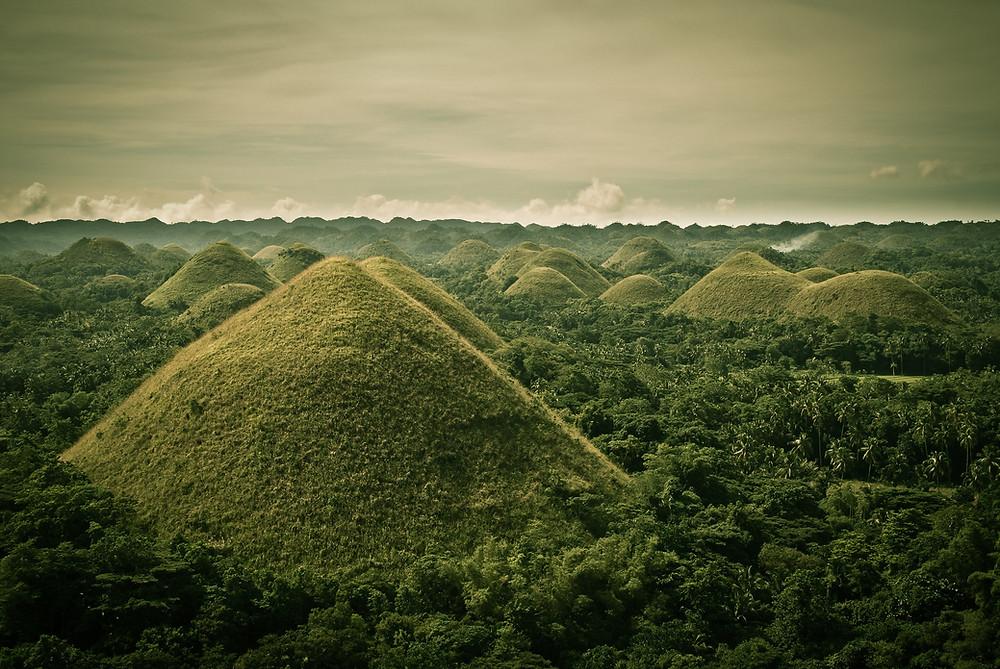 Chocolates Hills de l'Ile de Bohol aux Philippines