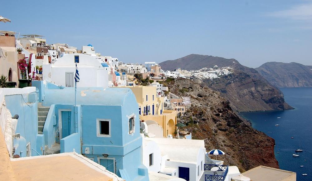 Maisons Falaises Santorin Grèce