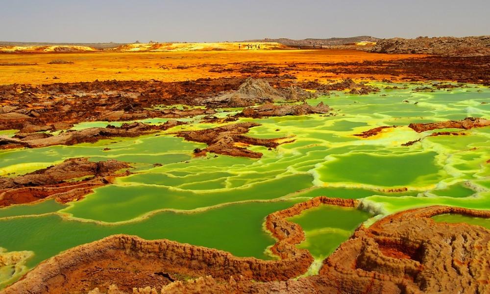 Volcan Dallol ethiopie couleurs