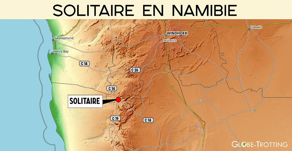 Carte Solitaire Namibie