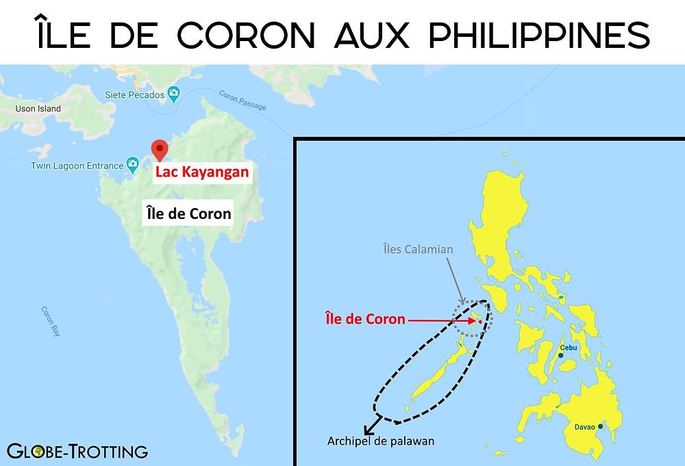 Carte coron kayangan philippines