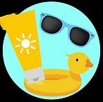 Soleil et plage avec bébés enfants