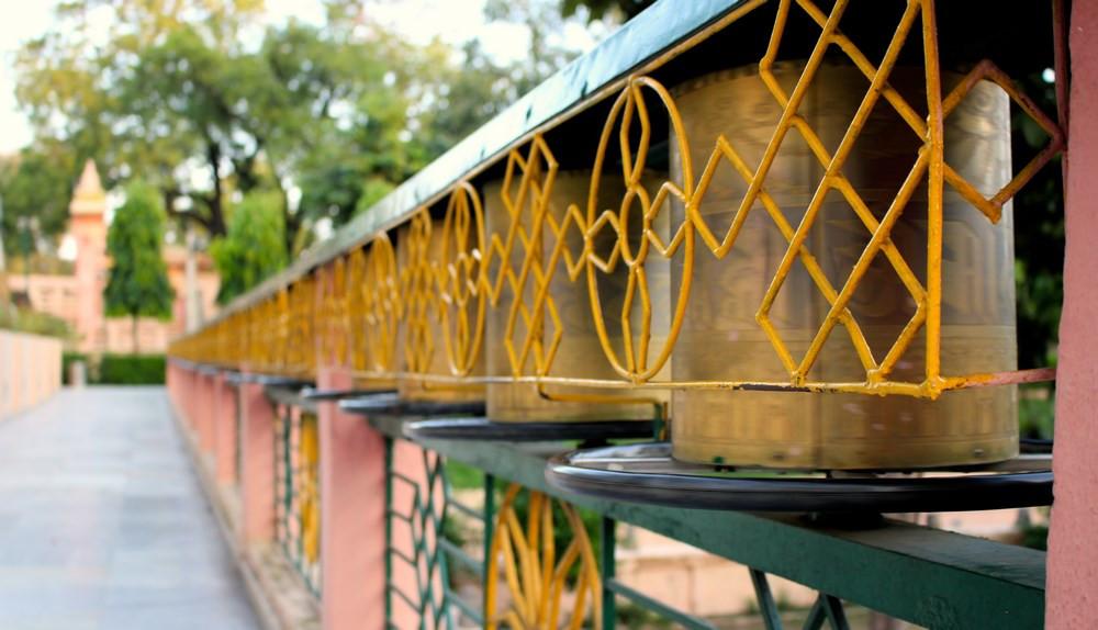 moulins à prières Bodhgaya