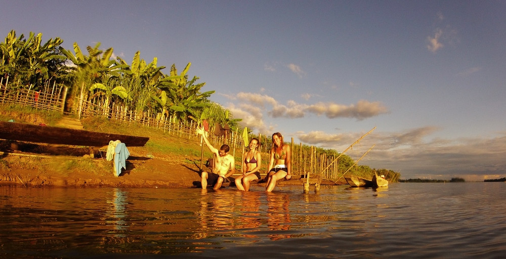 Plage Mékong Don Khong 4000 îles Laos