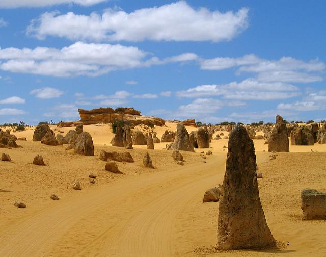 désert des Pinnacles paysage