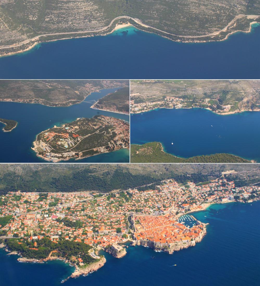 Croisière en croatie vue depuis le hublot