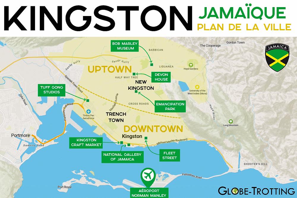 Plan Carte Kingston Map