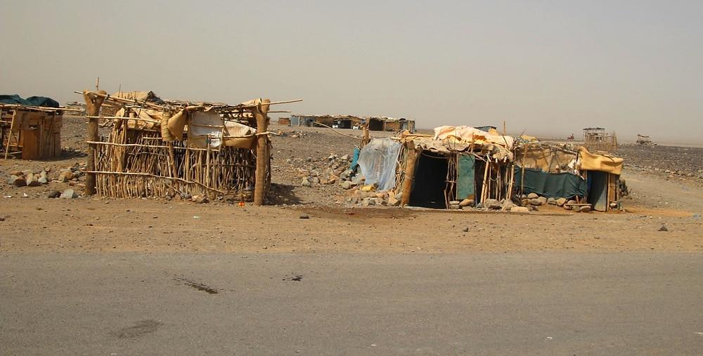 maisons lac Karoum Ethiopie