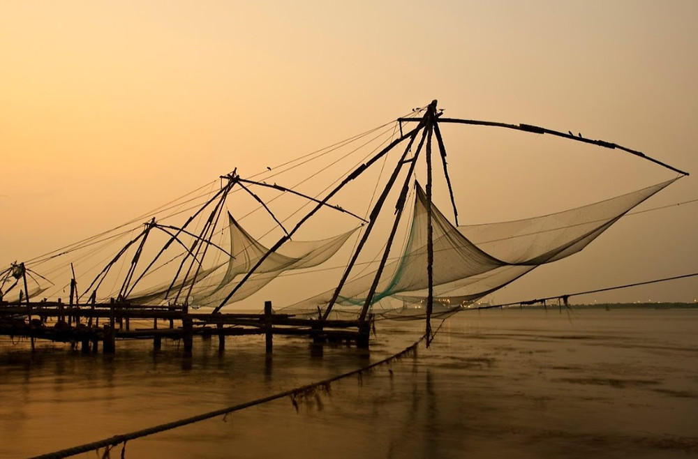 filets de pêche chinois de Fort Kochi