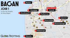 Carte de Bagan circuit temples
