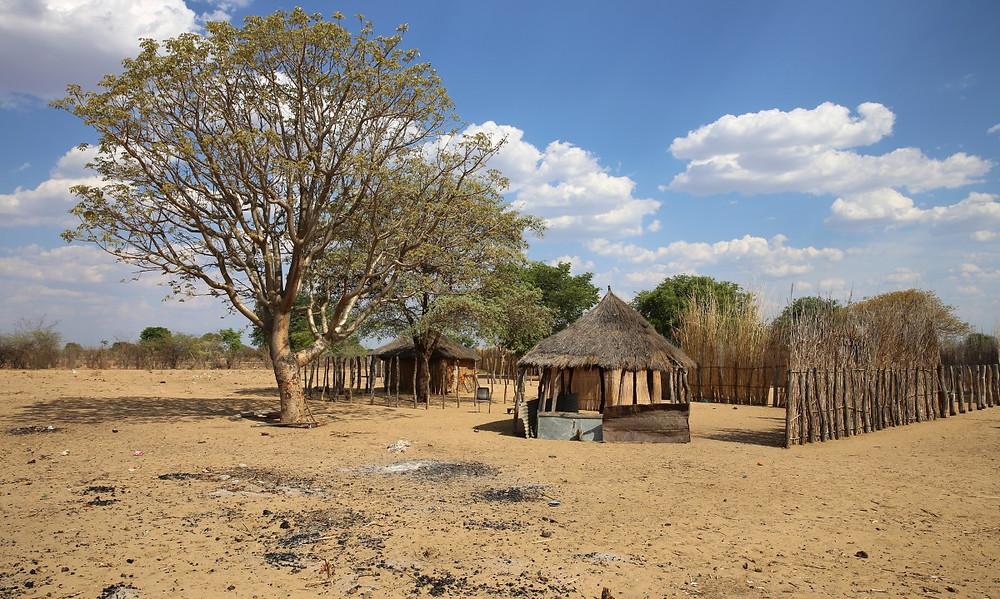 route pour Bagani Namibie
