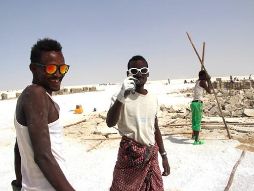 Le lac Karoum et sa mine de sel en Ethiopie