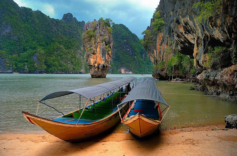 plage james bond thailande