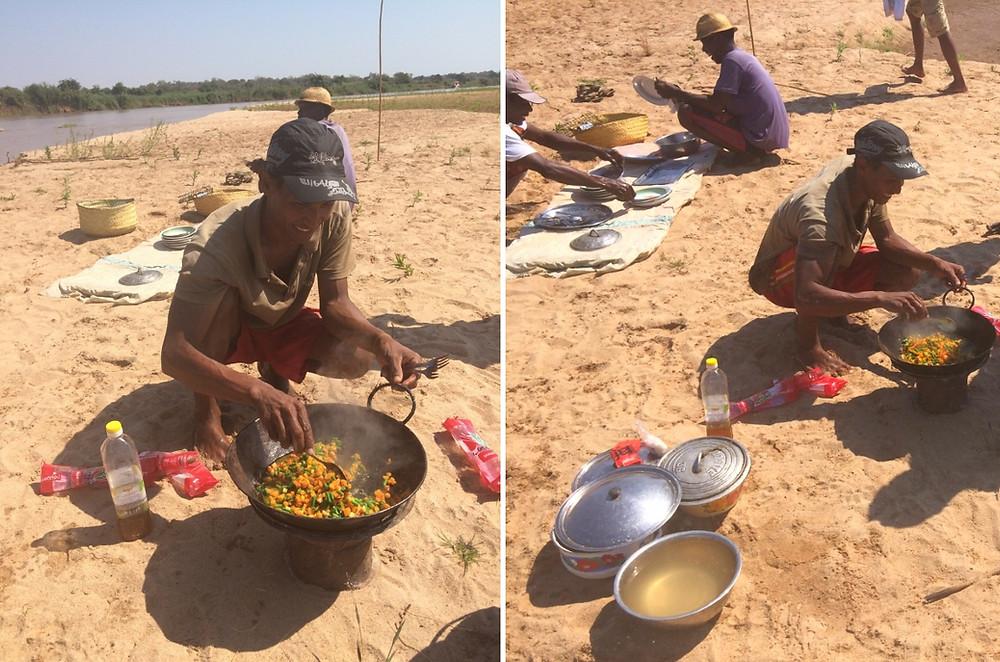 repas bivouac tsibirihina madagascar