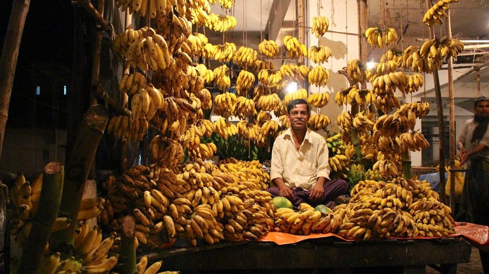 Vendeurs bananes Srimangal