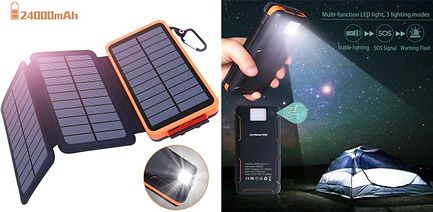 Chargeur solaire camping