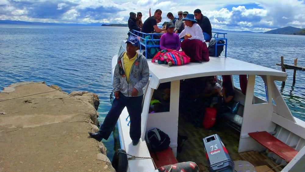 bateau ile du soleil bolivie