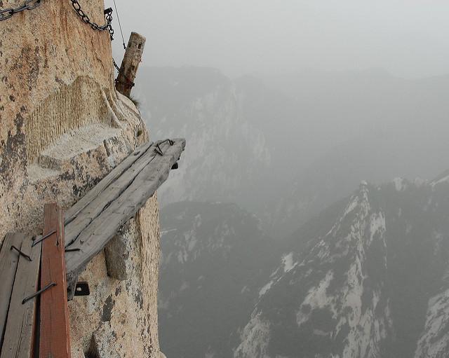 chemin dangereux mont Hua Shan en Chine