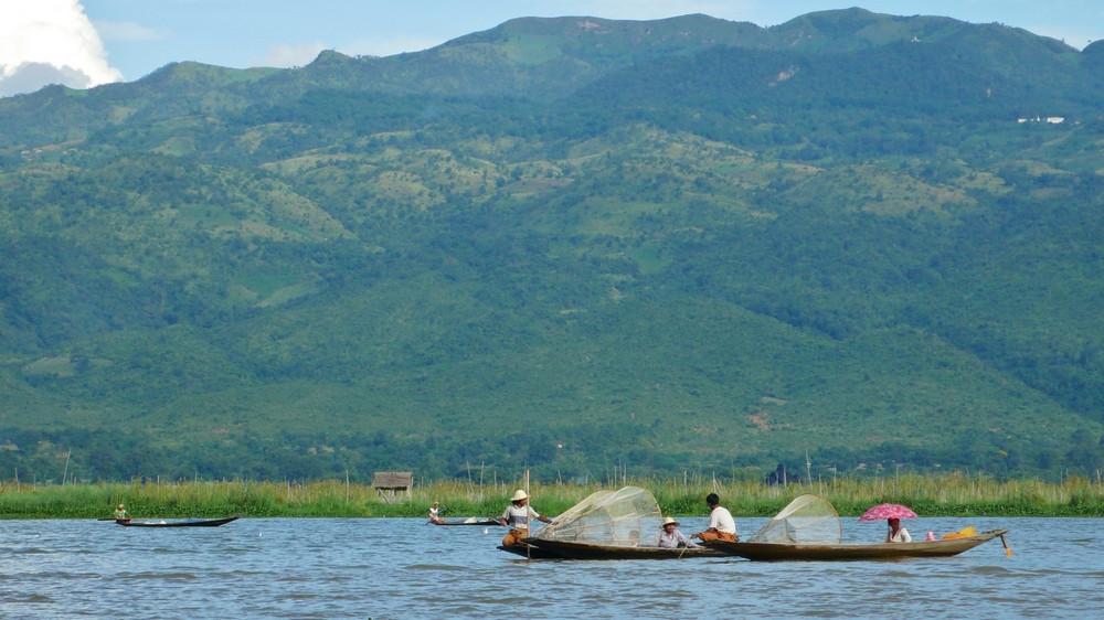 Pêcheurs Birmanie Lac inlé