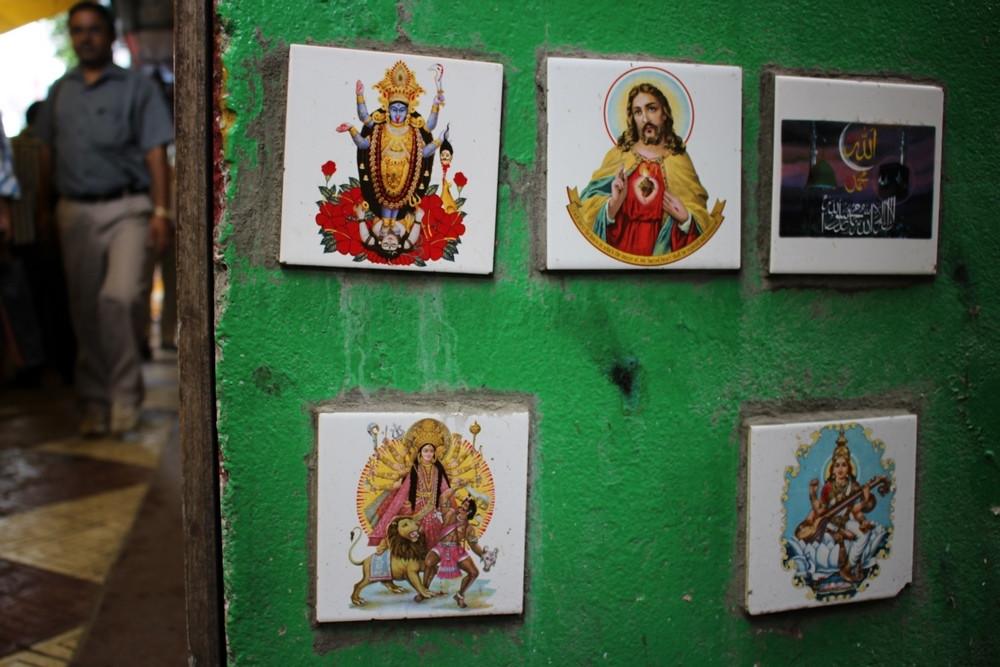 Carreaux hindouistes rues de Calcutta
