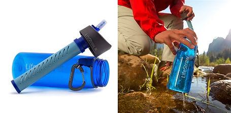Gourde filtrante eau potable