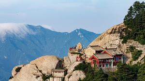 Temples du Mont Hua en Chine