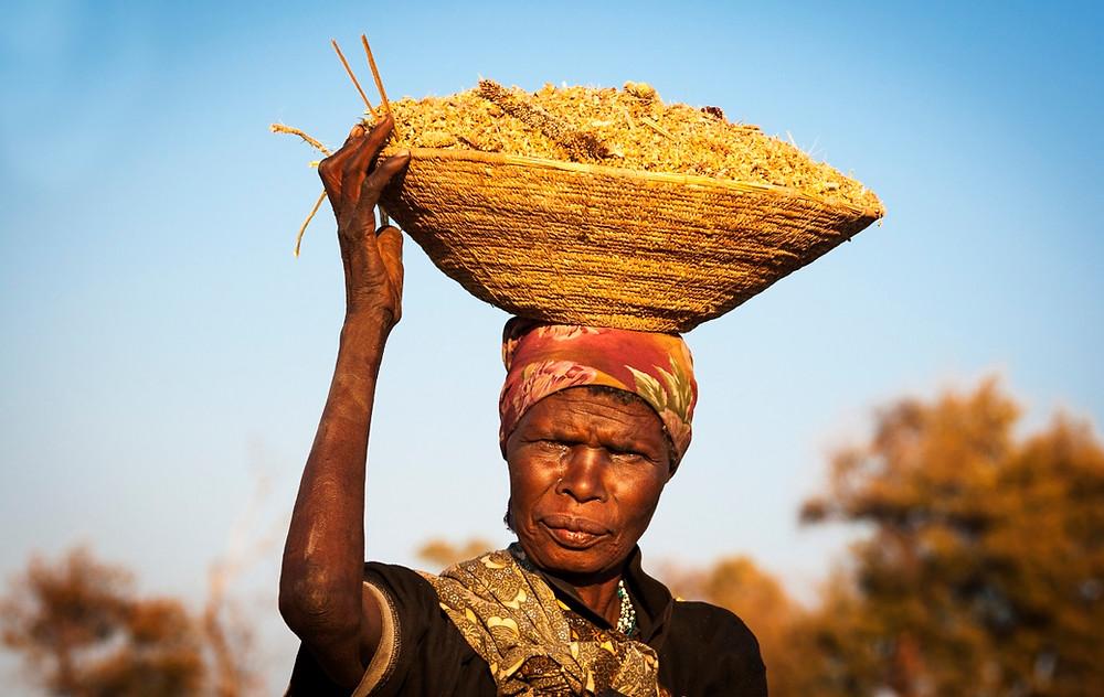 femme Caprivi Namibie Botswana