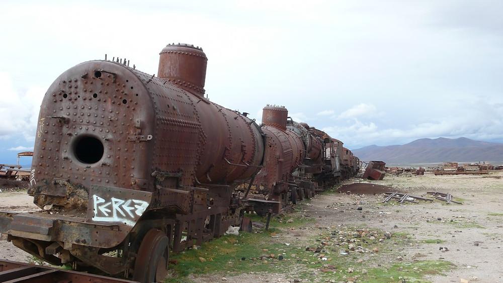 Le cimetière de trains Uyuni