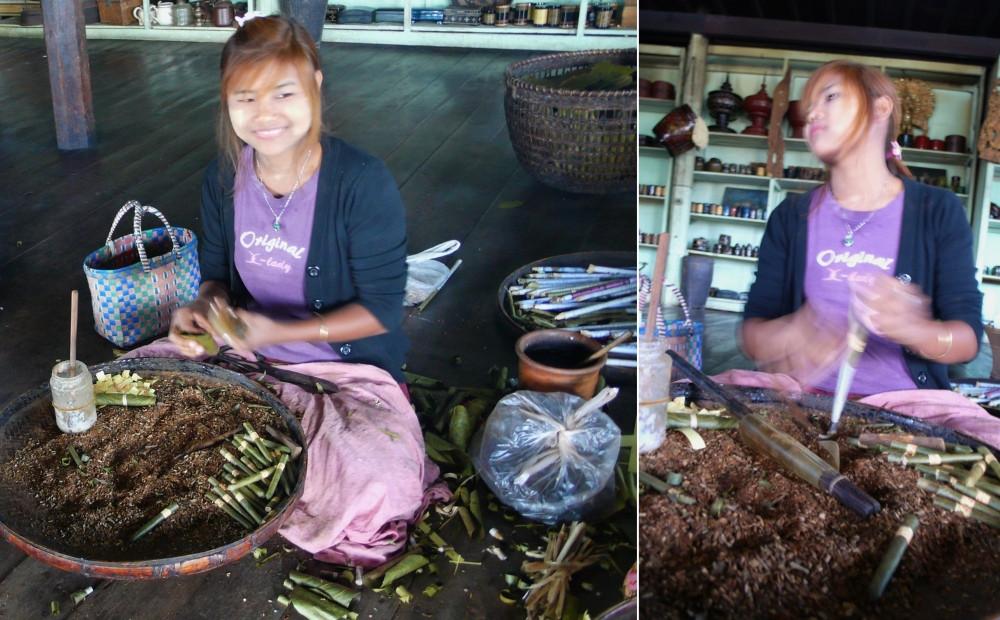 fabrique cigares birmanie lac inlé