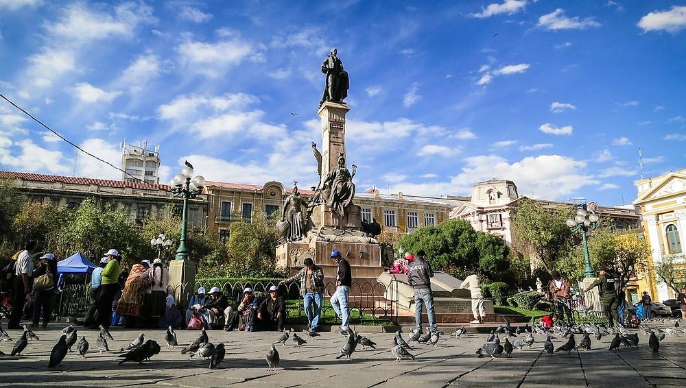 Plaza Murillo la paz bolivie