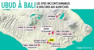 Ubud carte map à voir
