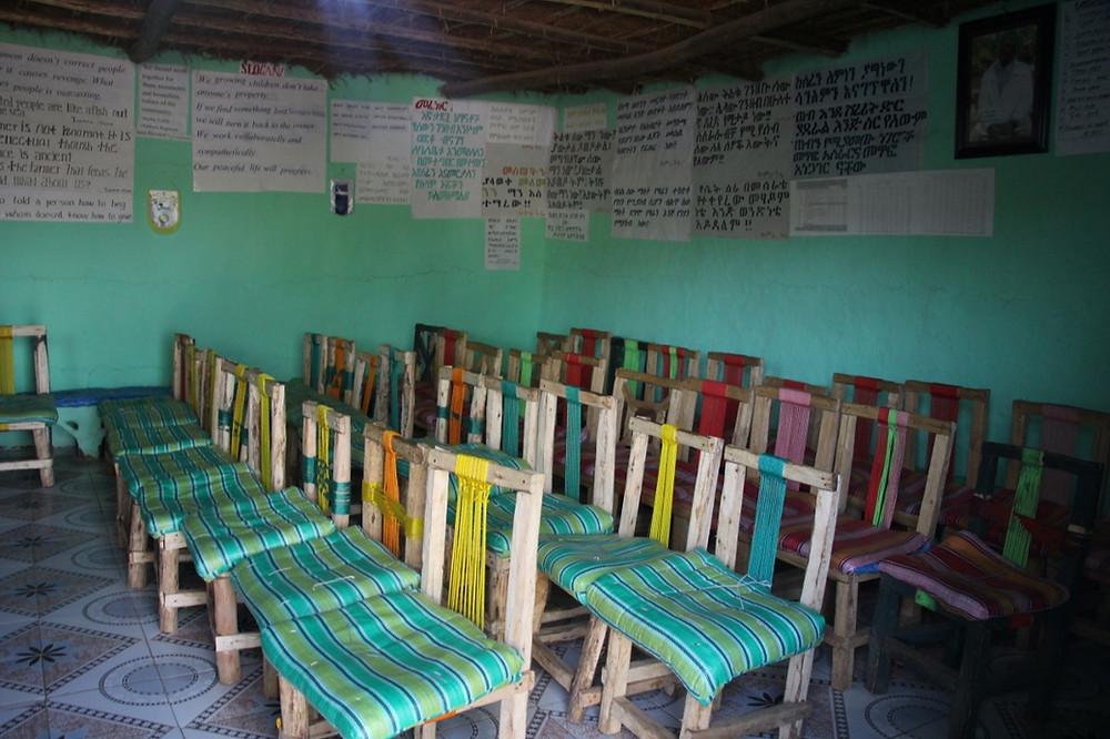 Awra Amba Ethiopie salle communauté