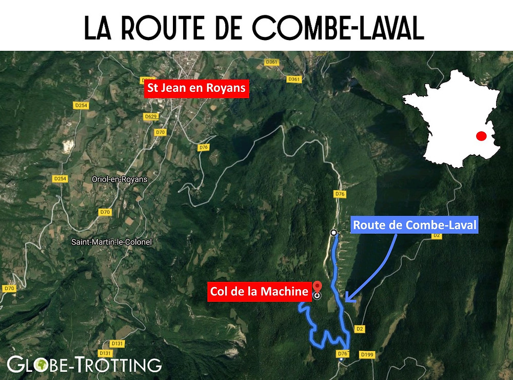 Carte route combe laval
