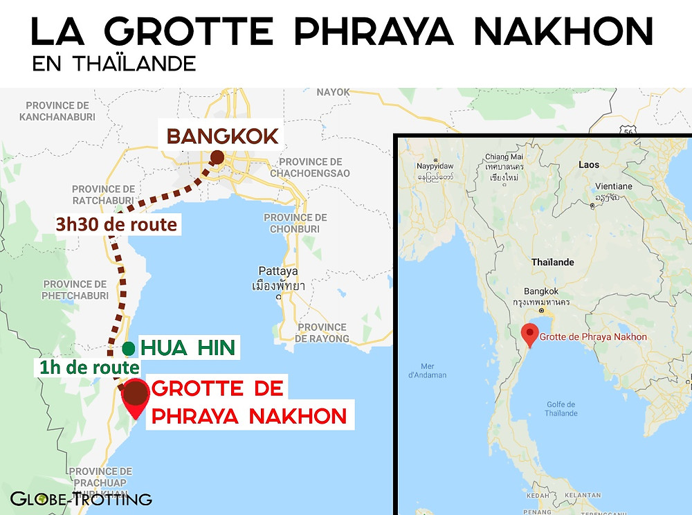 Carte Phraya Nakhon