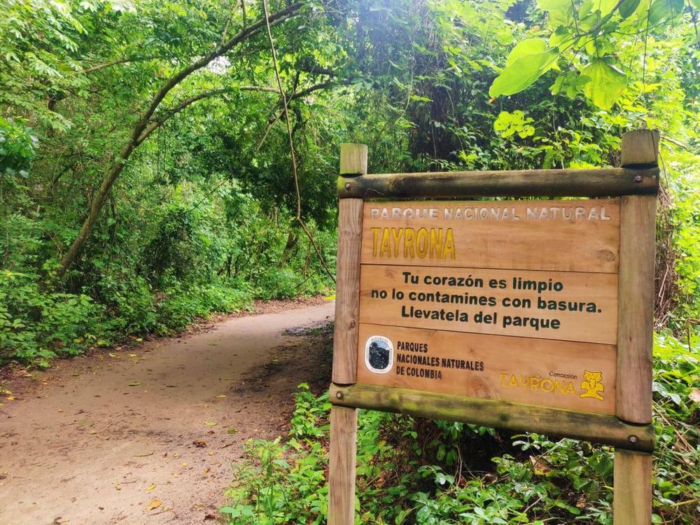 entrée parque tayrona