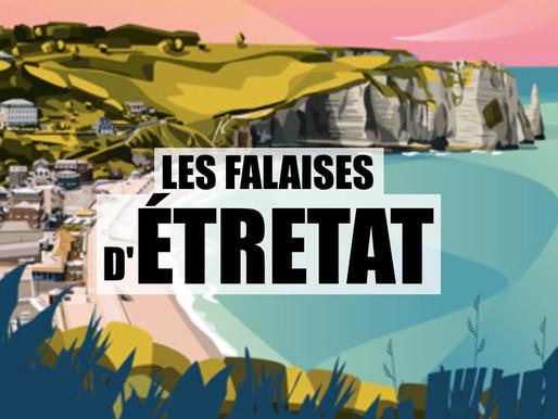 Les falaises d'Étretat en France