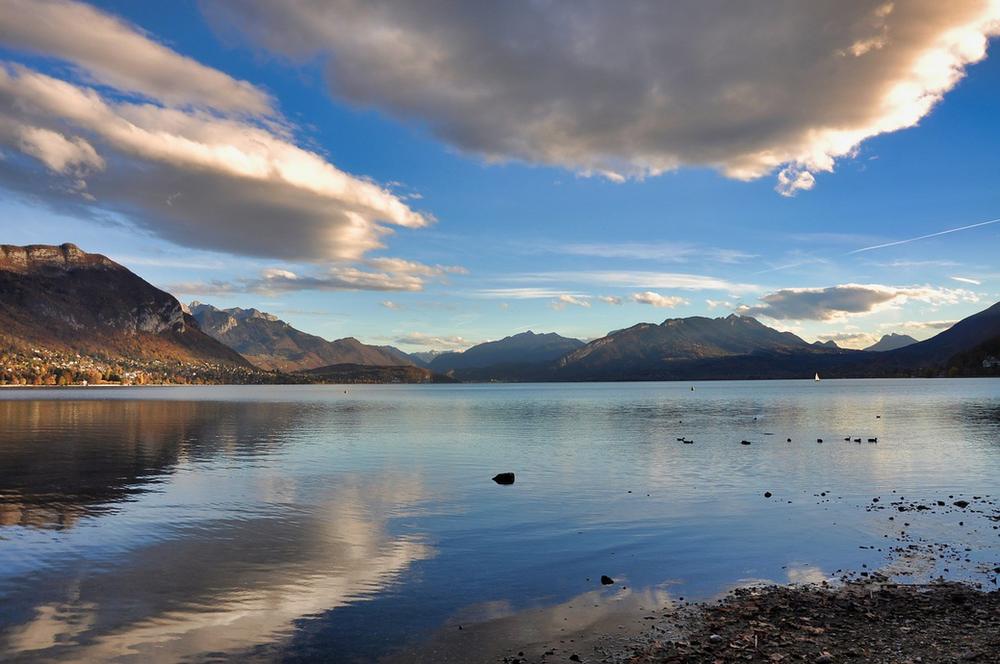 Lac d'Annecy en Haute-Savoie
