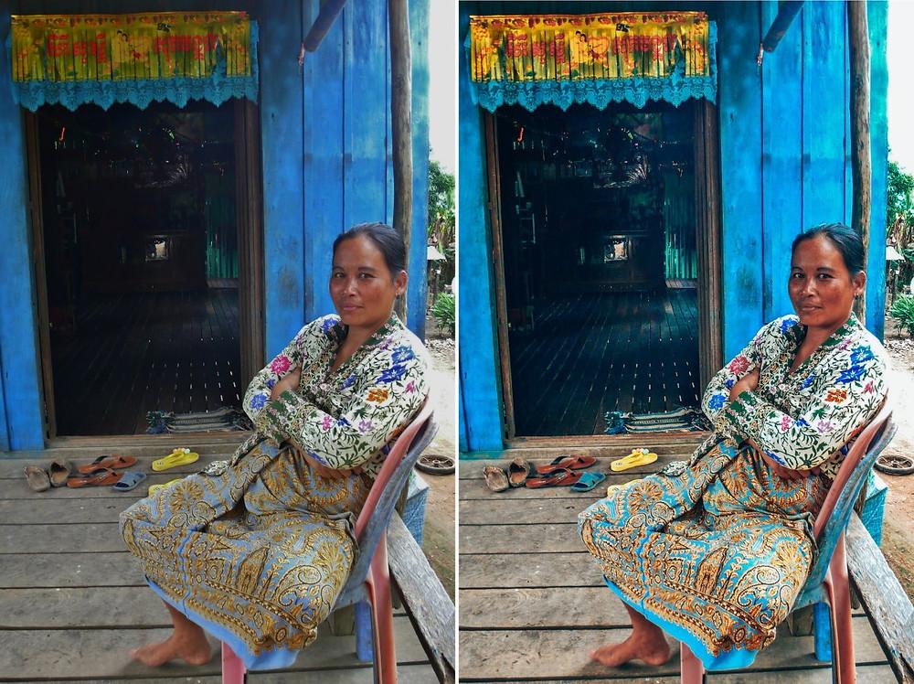 Amélioration photo de portrait