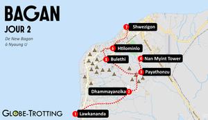 Bagan circuit visite new bagan et Nyaung U