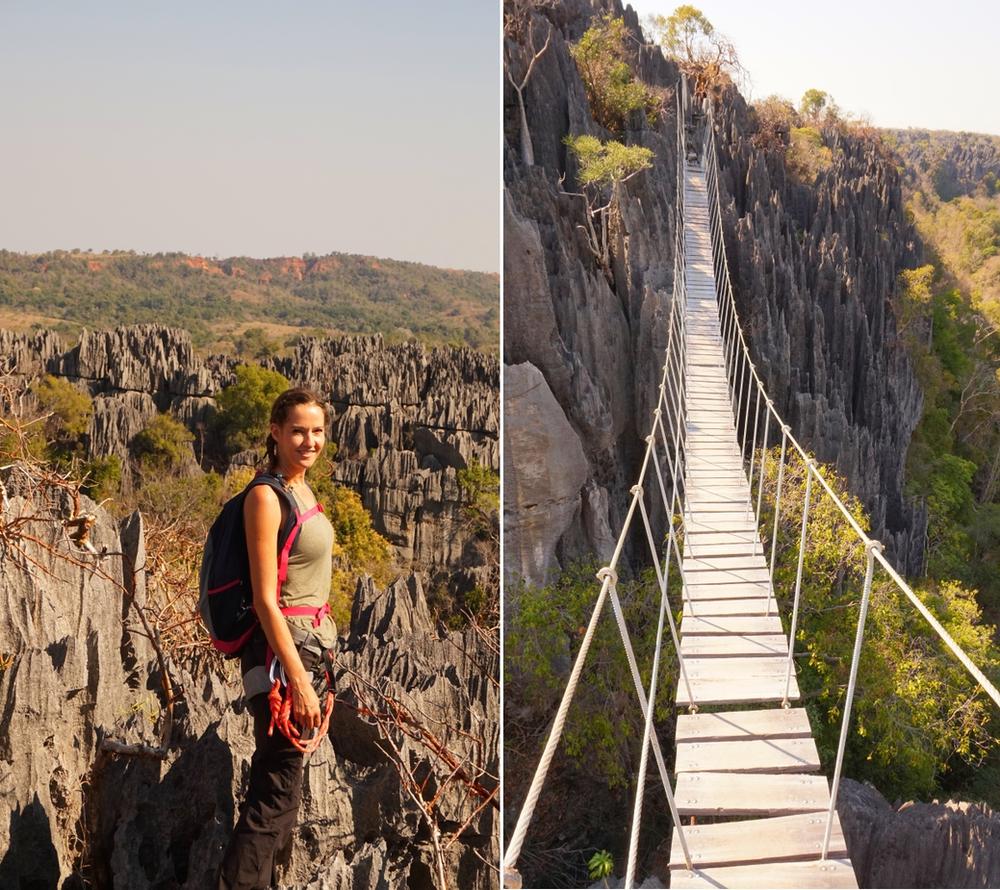 Tsingy de Bemahara et pont