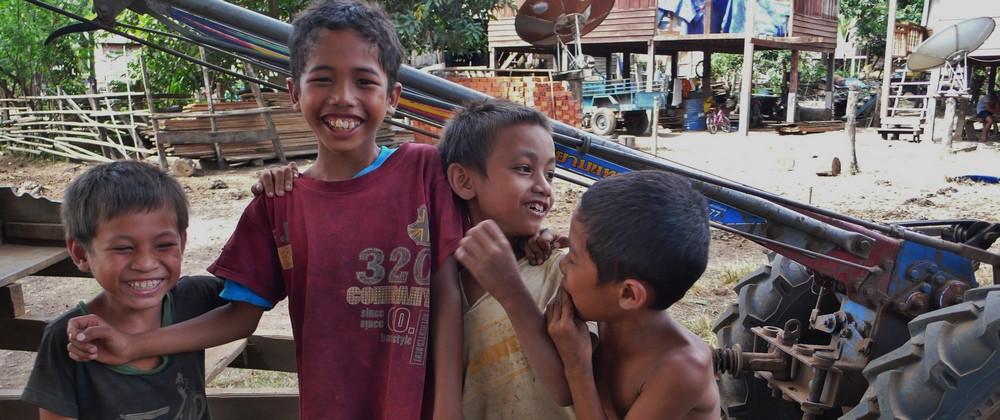enfants du village de Tad Lo