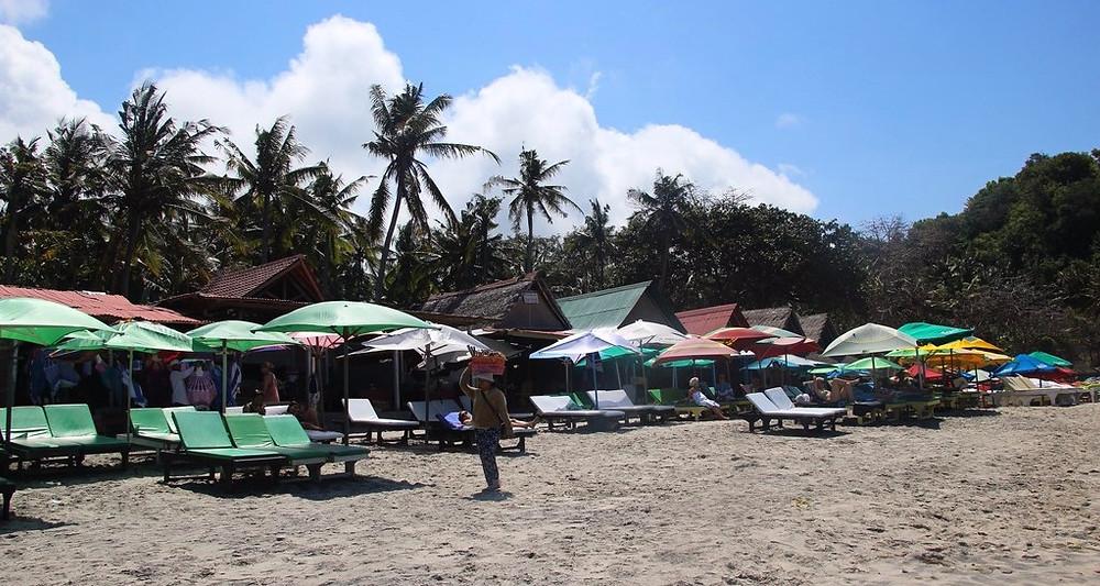 white sand beach candi dasa