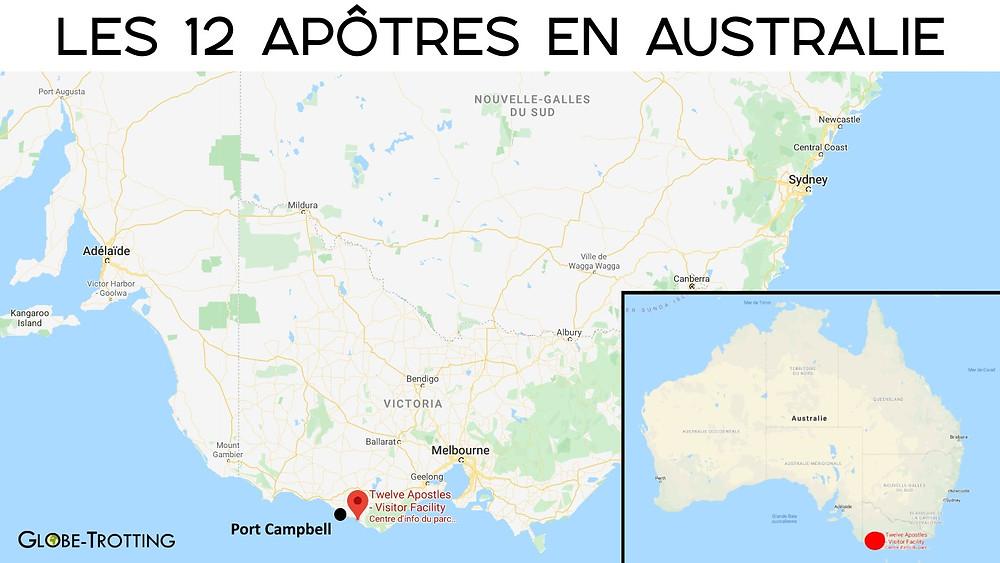 Carte 12 apotres australie