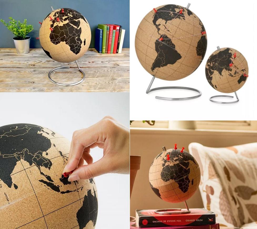 Globe en liège à punaiser