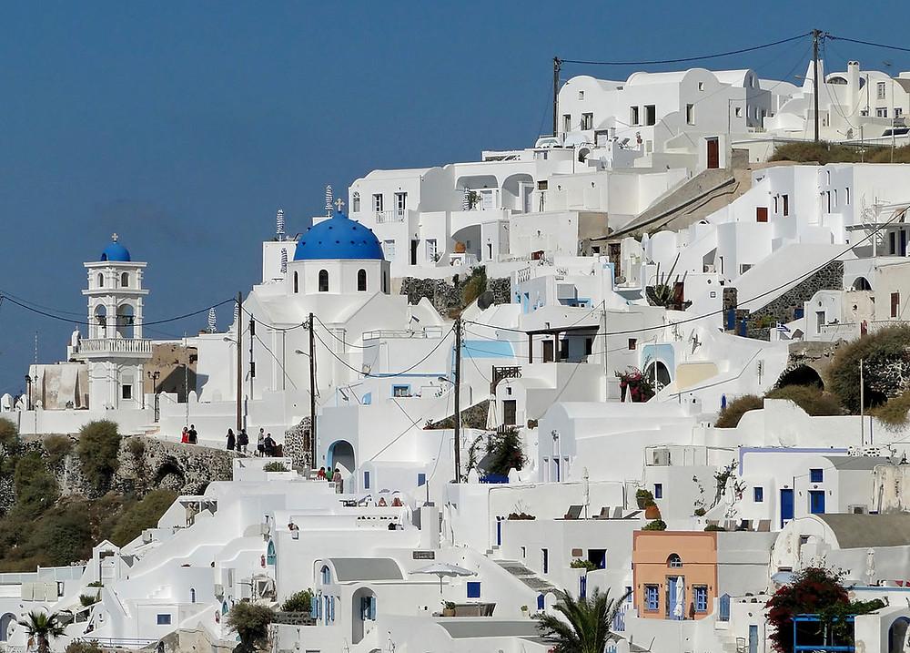 Santorin blanc et bleu