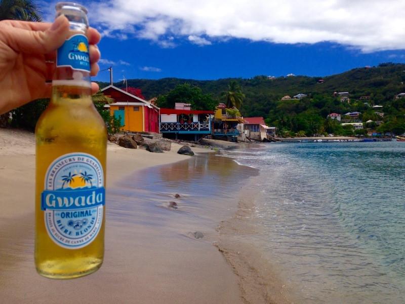 baie de deshaies plage, gwada beer