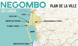 Negombo Plan Carte map Sri Lanka