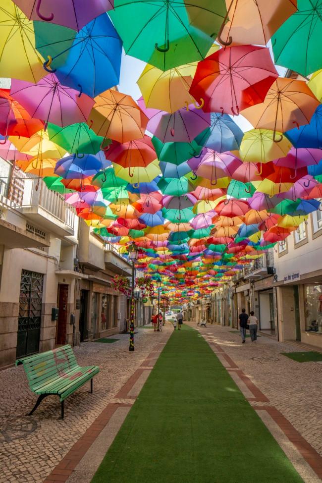 parapluies d'Agueda au Portugal