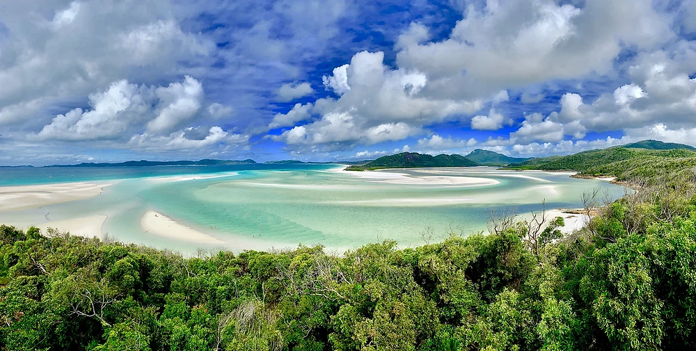 plage Whitehaven paradis blanc
