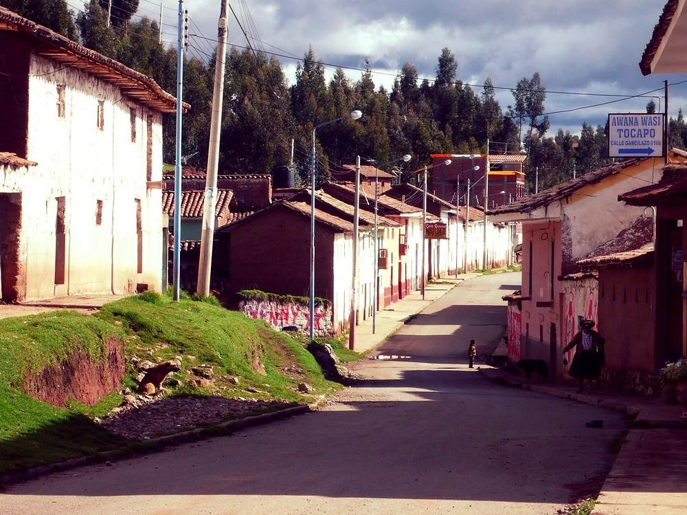 rues Chinchero au Pérou